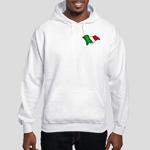 Wavy Italian Flag Hooded Sweatshirt