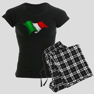 Wavy Italian flag Women's Dark Pajamas