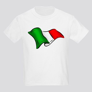 Wavy Italian flag Kids Light T-Shirt