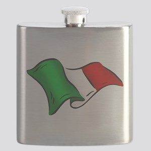 Waving Italian Flag Flask