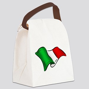 Waving Italian Flag Canvas Lunch Bag