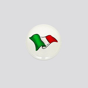 Wavy Italian Flag Mini Button