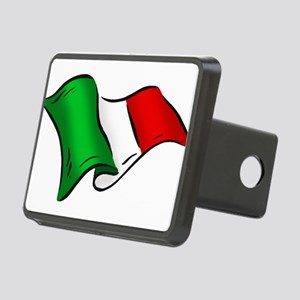 Wavy Italian Flag Rectangular Hitch Cover