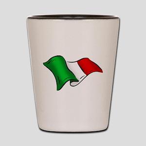 Wavy Italian Flag Shot Glass