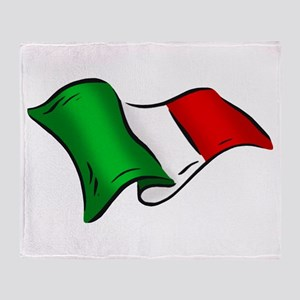 Wavy Italian Flag Throw Blanket