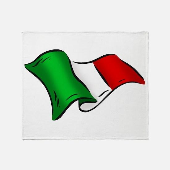 Wavy Italian Flag Throw Blanket