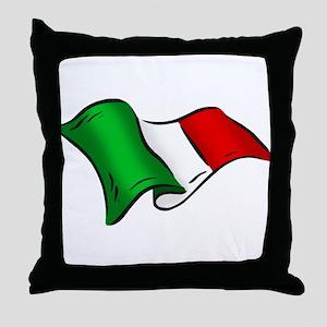 Wavy Italian Flag Throw Pillow