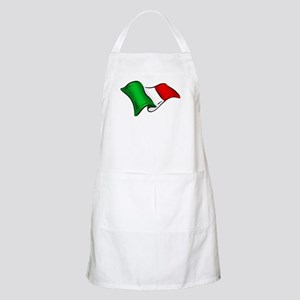 Wavy Italian Flag Apron