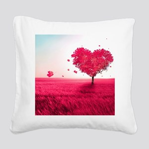 Tree of Love Square Canvas Pillow