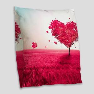 Tree of Love Burlap Throw Pillow