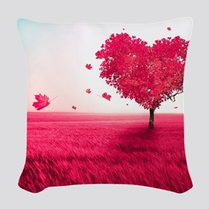 Tree of Love Woven Throw Pillow
