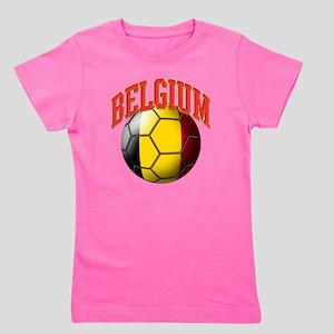 Flag of Belgium Soccer Ball Girl's Tee