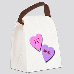 I Heart Math Canvas Lunch Bag
