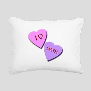 I Heart Math Rectangular Canvas Pillow