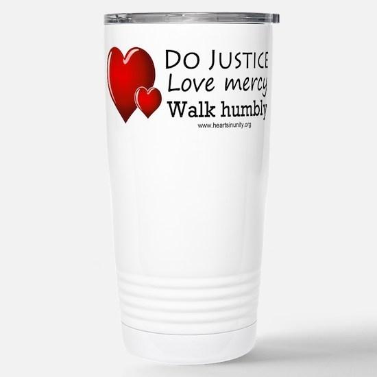HEARTS Stainless Steel Travel Mug