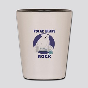 Polar Bears Rock Shot Glass