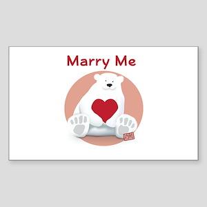 Marry Me Polar Bear Sticker