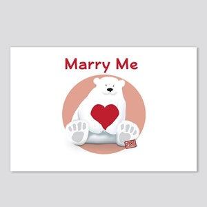 Marry Me Polar Bear Postcards (Package of 8)