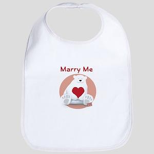 Marry Me Polar Bear Bib