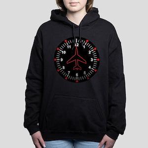 Heading Indicator Clock Hooded Sweatshirt