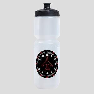 Heading Indicator Clock Sports Bottle