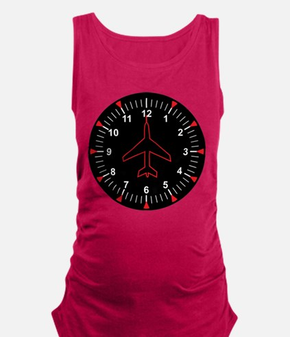 Heading Indicator Clock Maternity Tank Top