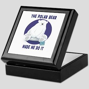 The Polar Bear Made Me Do It Keepsake Box