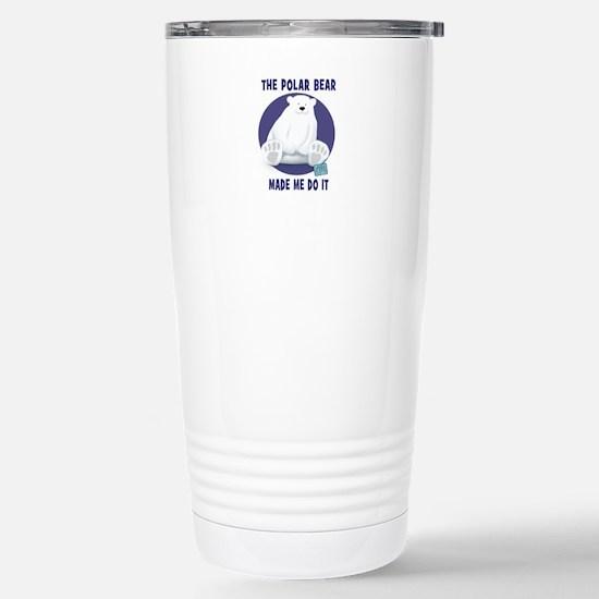 The Polar Bear Made Me Do It Travel Mug