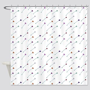 Love Arrows Shower Curtain