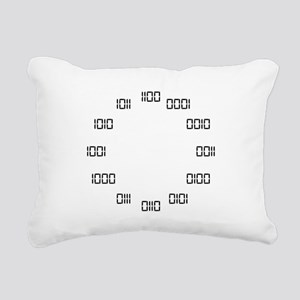 Binary Clock Rectangular Canvas Pillow