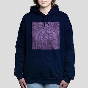 Purple Circuit Board Hooded Sweatshirt