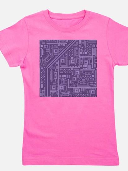 Purple Circuit Board Girl's Tee