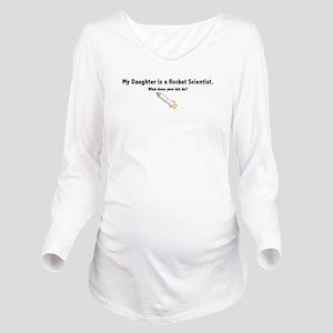 daughter_black Long Sleeve Maternity T-Shirt