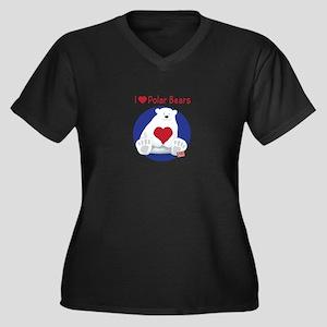 I Heart Polar Bears Plus Size T-Shirt