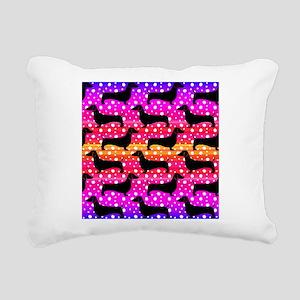 Rainbow Dachshunds Rectangular Canvas Pillow