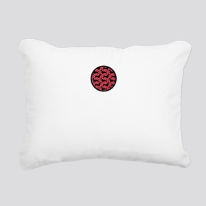 Red Polka Doxies Rectangular Canvas Pillow