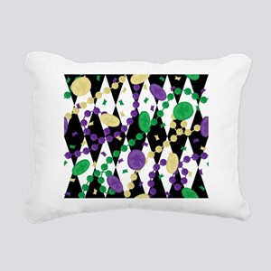 Mardis Gras Beads Rectangular Canvas Pillow