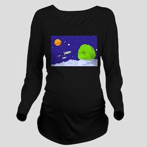 spacepatrol_ipad Long Sleeve Maternity T-Shirt