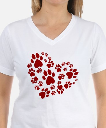 Pawprints Heart (Red) Shirt