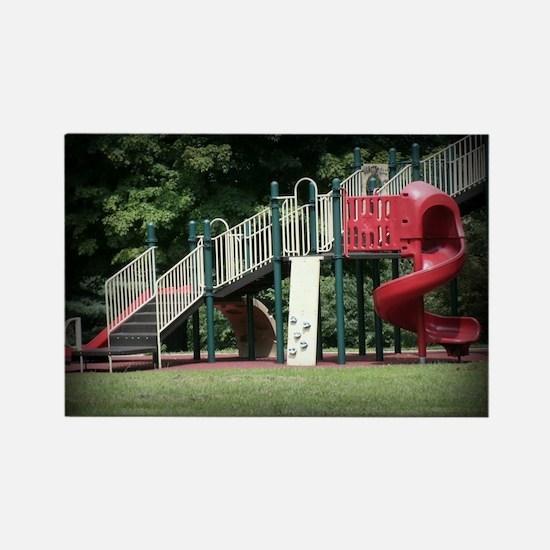 Park Fun Rectangle Magnet