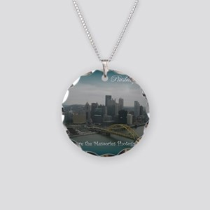 Pittsburgh Pa Necklace Circle Charm