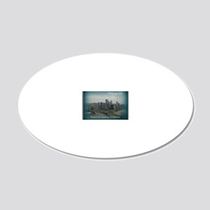 Pittsburgh Pa 20x12 Oval Wall Decal
