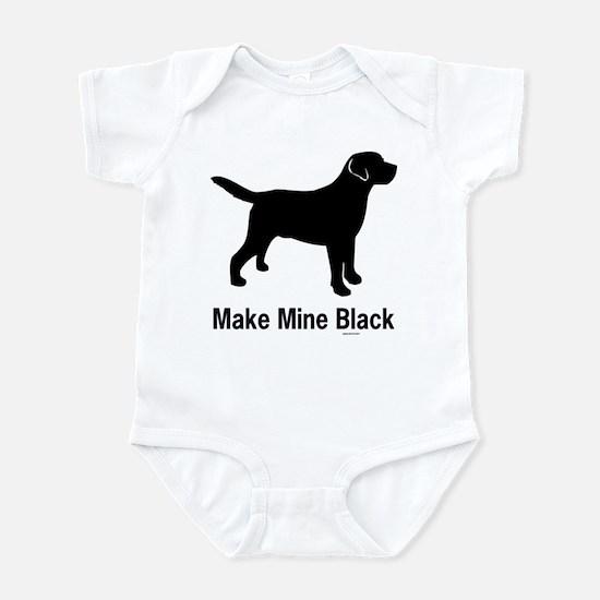 Make Mine Black Infant Creeper