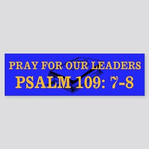 PSALM 109:7-8 Sticker (Bumper)