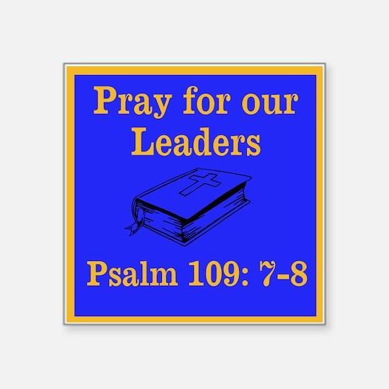 "PSALM 109:7-8 Square Sticker 3"" x 3"""