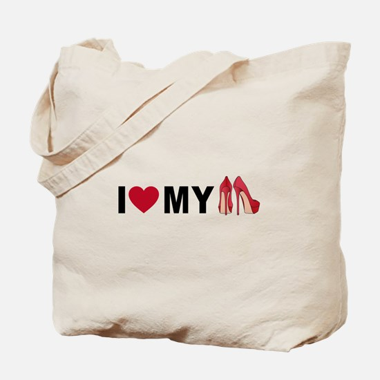 I love my red shoes Tote Bag