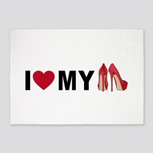 I love my red shoes 5'x7'Area Rug