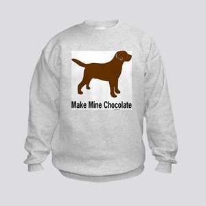 Make Mine Chocolate Lab Kids Sweatshirt