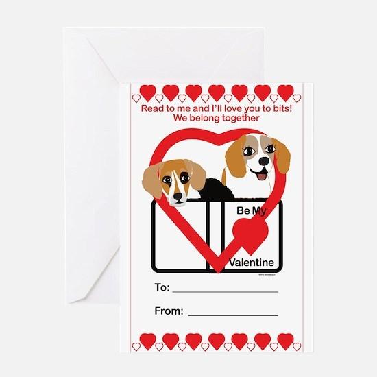 Valentine Beagles Greeting Cards