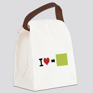 Customize Photo I heart Canvas Lunch Bag